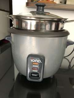 Iona rice cooker with steaming rack $15