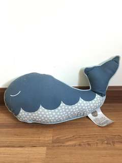 Tiny little wonders whale pillow