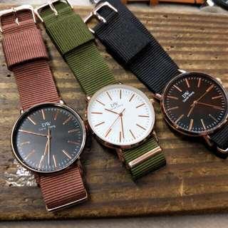現貨手錶 DW 流行帆布熱銷文青款<大特價>
