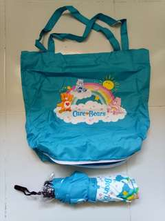 BN CARE BEARS BEARLY UMBRELLA & TOTE BAG