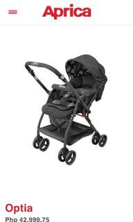 Aprica Optia Stroller ( Black )
