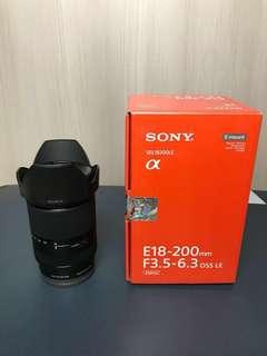 Lensa Sony E18-200mm F3,5-6,5 OSS LE