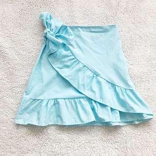 Sky Blue Ruffled Skirt