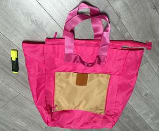 可摺疊有拉鍊環保袋(可存放金器)