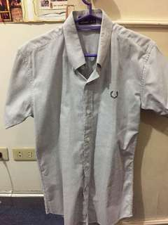 Replica Gray Fred Perry Short Sleeved Polo