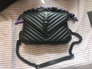 YSL college leather bag(100% authentic)