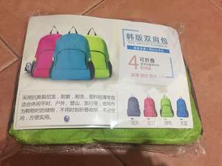 韓版雙肩包 可折疊 easy bag