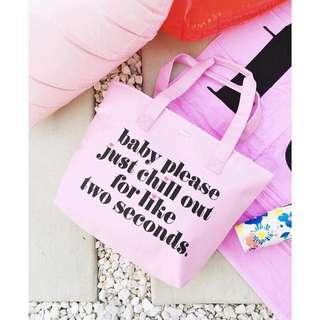 🚚 美國✈️Ban.do baby please 粉色 手提包  肩背包 保溫保冷袋