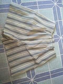 High waist stripes short