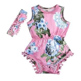 嬰兒花花衫