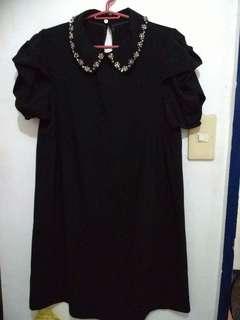 Black Swarovski Collar Dress (Sale)
