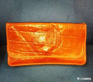 Clutch Bag Alligator Leather Carlos Falchi
