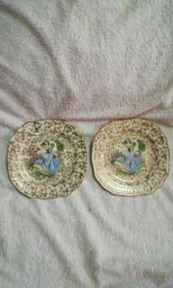 Vintage 1950's Decorative Plate from England - Set of 2
