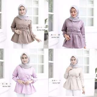 BAJU MUSLIM / DRESS / ELVIA TOP MO