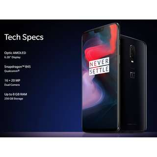 OnePlus 6 128GB / 8 GB *** Preorders Only ***