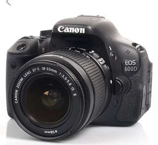 Canon Digital EOS 600D DSLR Camera Body + 18-55mm IS