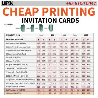 CHEAP GREAT QUALITY INVITATION CARDS PRINTING SERVICE (CAT 7)