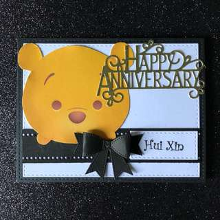 Tsum Pooh anniversary card