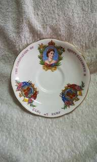 Vintage The Coronation of Queen Elizabeth II Decorative Plate