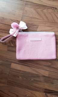 Etude House Pouch in #pink with Pom Pom