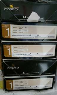 Conqueror Paper A4 light cream colour