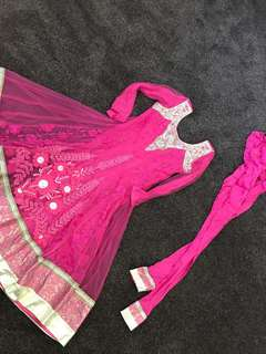 Floral pink outfit size 8