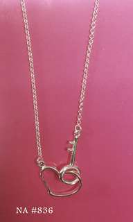 Genuine 925 Italy silver center necklace