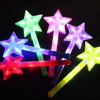 LED Flashing Star Magic Fairy Unicorn Wand Light Toy