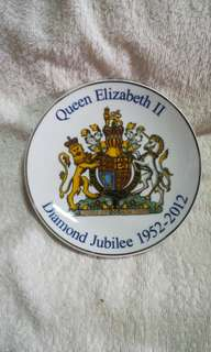 H.R.H. Queen Elizabeth II Diamond Jubilee Decorative Plate