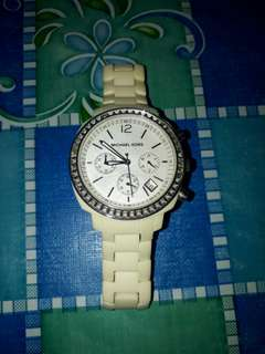 Michael Kors Chrono Pearl Of Dial Watch Authentic