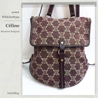 Celine 牛仔 背包 背囊 Macadam Backpack Bag