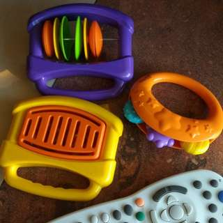 Musical baby rattle
