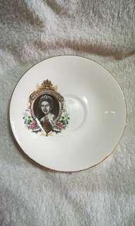 Vintage H.R.H Queen Elizabeth II Silver Jubilee Decorative Plate