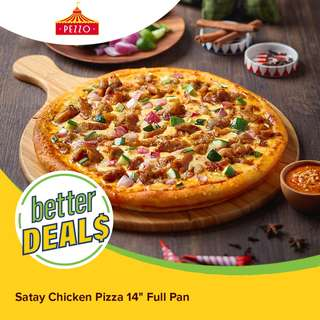 "Pezzo Satay Chicken Pizza 14"" Full Pan"