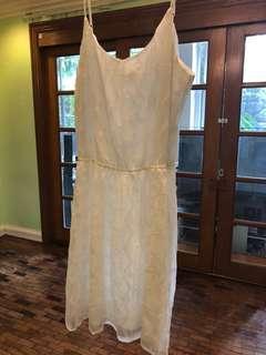 Sheer fit & flare dress
