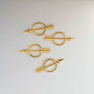 Arrow Gold Metal Charm