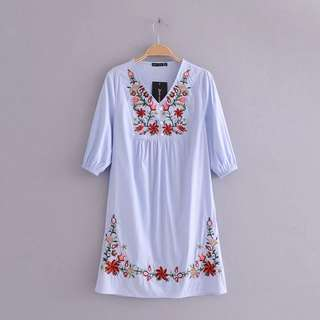 Fiona Floral Embroidery Dress