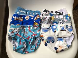 Cloth diaper nappy cover little bloom washable nappy