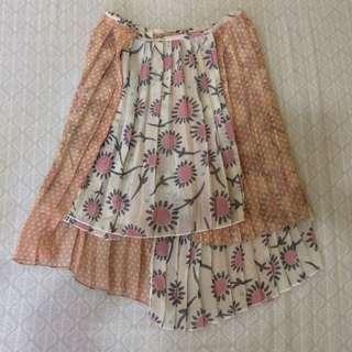 Korean Floral Skirt