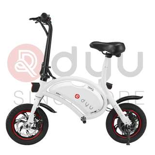 DYU Seated Electric Scooter 10.4Ah White