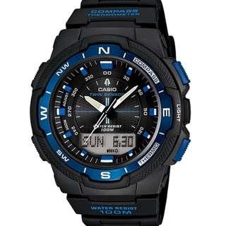 SGW-500H-2BV SGW500H Brand New Casio Twin Sensors 100m World Time 100% Original Analog Digital Male Sports Watch w/ Warranty