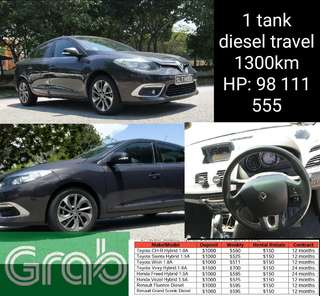GRAB CAR RENTAL! RENAULT FLUENCE DIESEL! 📌GRAB CAR RENTAL! $150 WEEKLY RENTAL REBATE 📌BUDGET CARS RENTAL! 📌NEW CARS RENTAL!