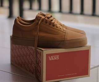 VANS OLD SKOOL BROWN GUM LEATHER