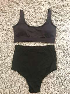 2 piece high waisted swim suit