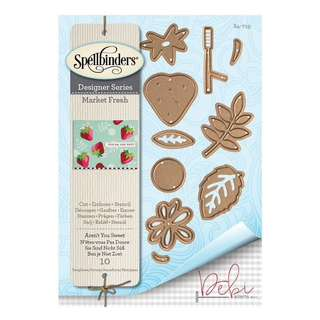Spellbinders market fresh etched dies (9pc)