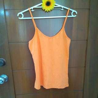 Orange tank top XL