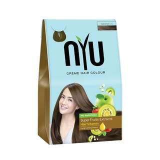 NYU hair color (natural brown)