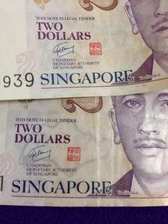 Defect - SG Map Visible $2 Polymer Note