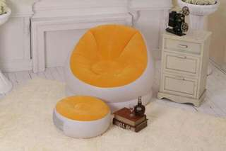 Inflatable Seat and Ottoman