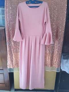 Dress pink lebaran
